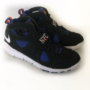 Nike Huarache Black Blue KNICKS Trainer shoes